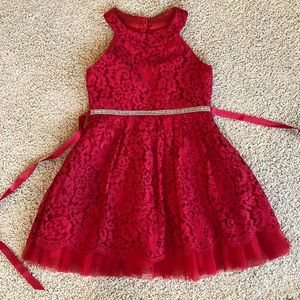 Raspberry special occasions dress worn once!